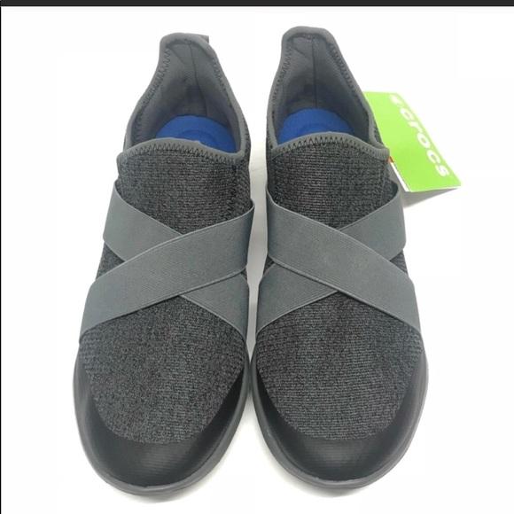 35911e25fa794 🆕Crocs Swiftwater Cross-Strap Static Grey Size 10